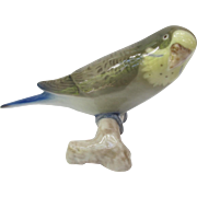 Vintage Bing and Grondahl Green Budgie Parakeet Figurine
