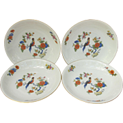 Bavaria Germany Vintage Soup Salad Bowl Set of Four with Bird of Paradise