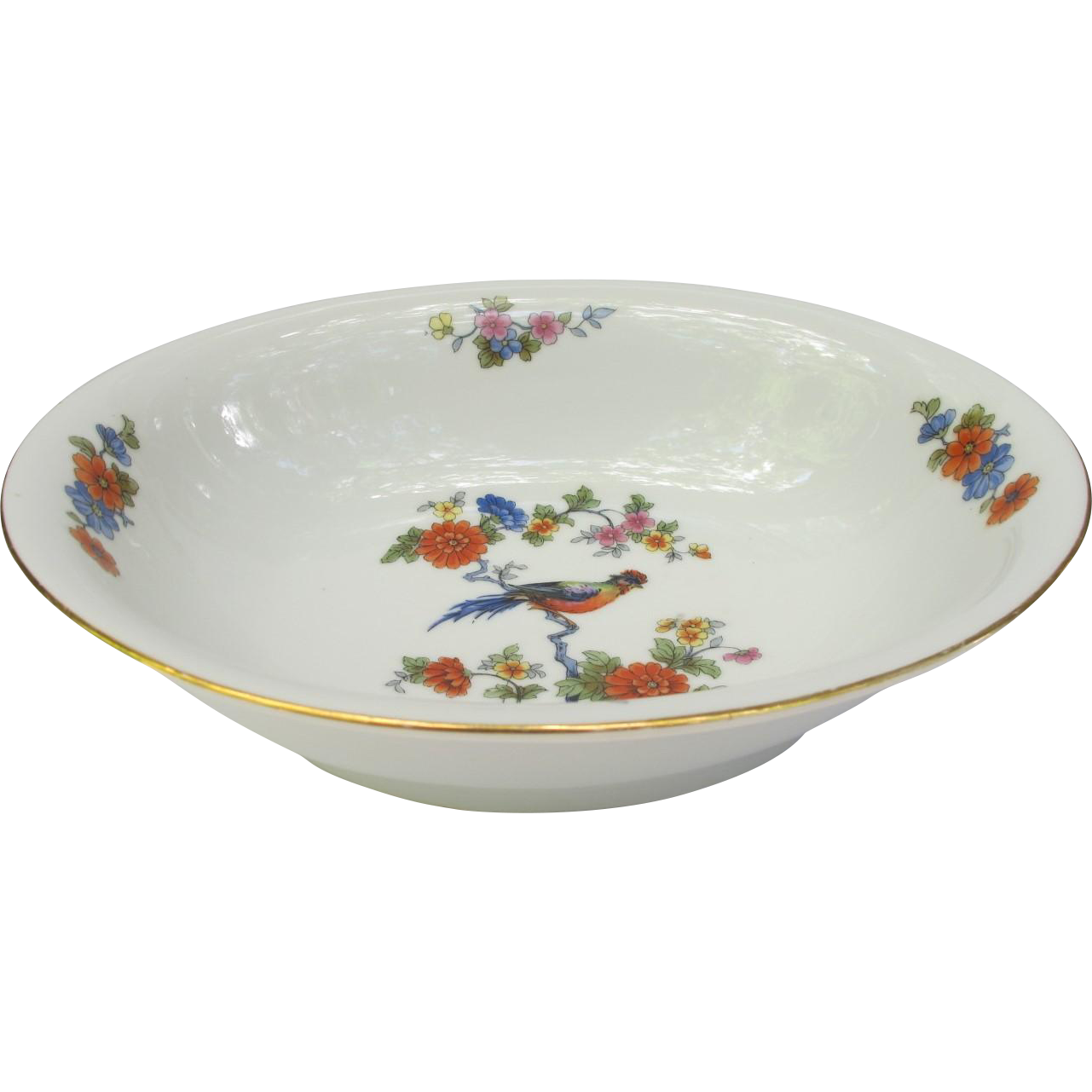 Vintage Bird of Paradise Vegetable Bowl