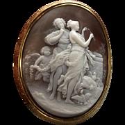 Amazing Cameo Scene of the Goddesses Venus and Diana