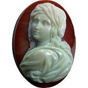 Museum Quality Victorian Hard Stone Cameo of Beatrice Cenci