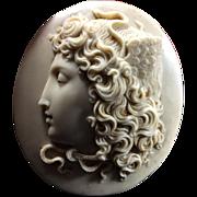 Wonderful Museum Quality Victorian Lava Cameo of Medusa