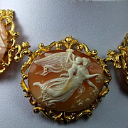 Once in a Lifetime Outstanding Museum Quality Victorian Cameos Necklace