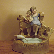 German Bisque Cigar Holder - Children - Goose