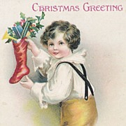 """Christmas Greeting"" - A/S Ellen H. Clapsaddle - Children"