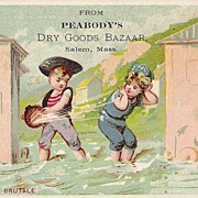 """Peabody's Dry Goods"" - Advertising Trade Card - Children"