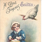 """A Glad & Joyous Easter"" - Sailor Boy & Hen"