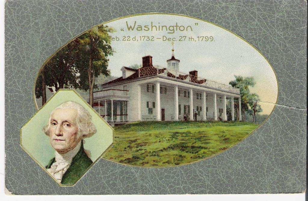 """George Washington - 1732 -1799 - Postcard"