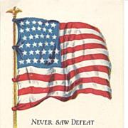 """""""Never Saw Defeat"""" - Ship & USA Flag"""