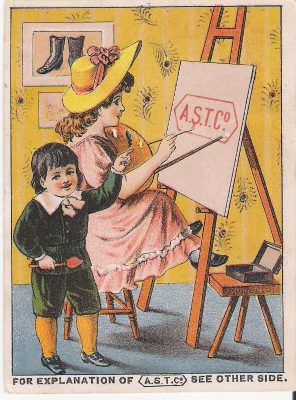 """A.S.T. Co. "" -  Advertising Trade Card"