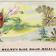 """Use Helmes' Rail Road Mills Snuff"" - Advertising Trade Card"