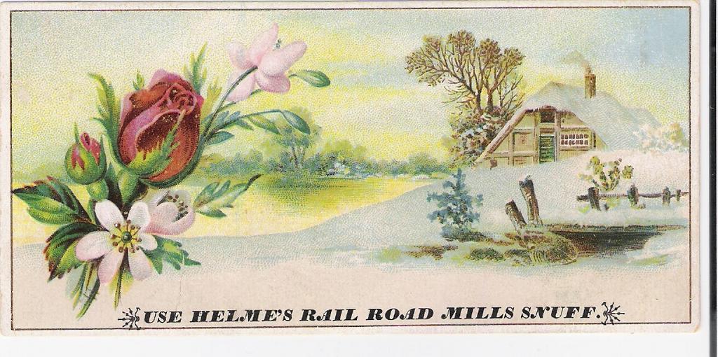 """Use Helmes' Rail Road Mills Snuff"" - Advertising Trade Card"
