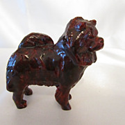 Vintage Unusual Small Chow Dog Statue