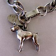 Nice Vintage Boxer Dog Charm Bracelet