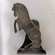 Figural Napkin Clip Horse/Pony Silver Plated