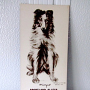 Vintage Advertising Collie/Sheltie Dog Ink Blotter