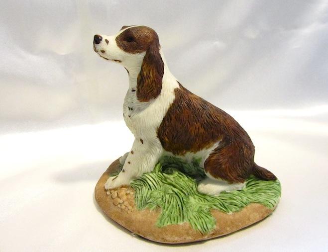Vintage Charmstone Signed Springer Spaniel Dog