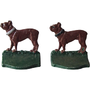 Boston Terrier Bulldog Bookends Vintage