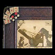 Bulldog and Bachelor Poker Print Small Vintage