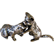 Miniature Silver Plated Cats/Kittens Vintage