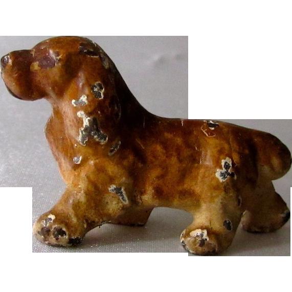 Miniature Iron Cocker Spaniel Dog Vintage