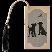 Vintage Bridge Tally Card w/Fox Terriers