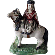 Staffordshire Lady Riding Horse Early