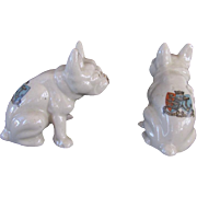 Crested China French Bulldogs Vintage England