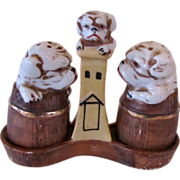 Vintage Bulldog Salt & Pepper Shaker Set