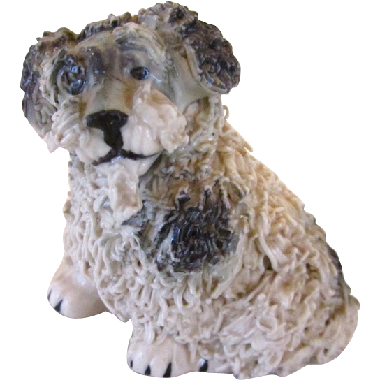 Vintage Spaghetti Terrier Dog Signed