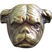 Brass Bulldog Pin Vintage