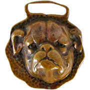 Early Watch Fob Of English Bulldog