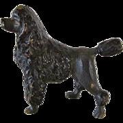Miniature Bronze Poodle Austrian Vintage