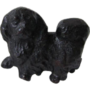 Vintage Iron Pekingese Dog Miniature Paperweight