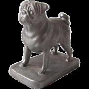 Signed Pewter Pug Dog C.1988