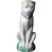 Antique Staffordshire Sitting Pug Dog