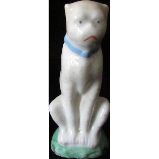 Antique Staffordshire Sitting Pug Dog
