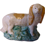 Miniature Antique Staffordshire Spaniel Standing