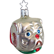Retired Old World Glass Three Faces Ornament