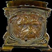 Art Nouveau Letter Rack Bulldog Cast Iron Judd