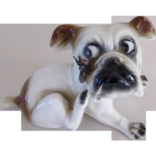 Vintage Sitzendorf Porcelain Bulldog Germany