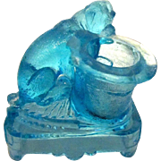 Antique EAPG Toothpick Holder With Pug Dog