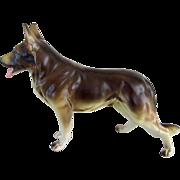 Vintage China German Shepherd Dog Statue 7 Inches
