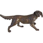 Large Antique Casting Setter Dog 12 Inches