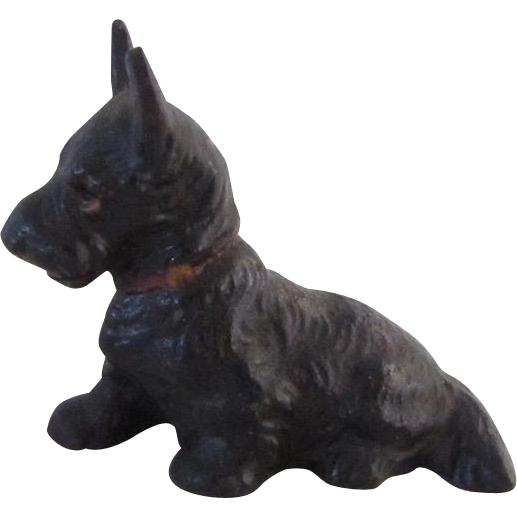 Vintage Hubley Cast Iron Scotty Dog Card Holder