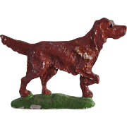 Vintage Dollhouse Lead Irish Setter Dog C. 1930