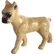 Vintage Lead Dollhouse Boxer Dog C.1930