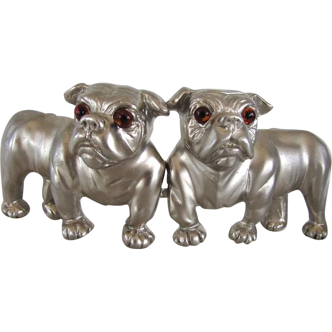 Lovely Vintage Bulldog Designer Belt Buckle Signed