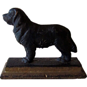 Rare Cast Iron Paperweight of St. Bernard Dog