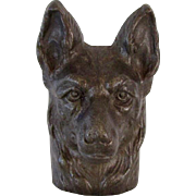 Vintage Cast Iron German Shepherd Dog Paperweight